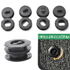Car Floor Mat Carpet Fasteners Plastic Clips Universal Black Holders Sleeves