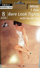 Safeway Small Size Bare Look 8 Denier Tights With Sandal Toe and Lycra