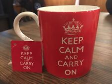 Keep Calm and Carry On Red Coffee Mug Tea Cup 12oz home essentials