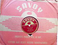 JOHNNY OTIS & MEL WALKER 78 Sunset to dawn / Feel like cryin'..SAVOY R&B vs150