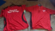 NWT Men's Detroit Red Wings Official NHL Hockey Shirt w/ collar sz- L   LOT of 2