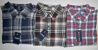 Men's Chaps Big & Tall PERFORMANCE BRUSHED FLANNEL BREATHABLE SHIRT NWT $60
