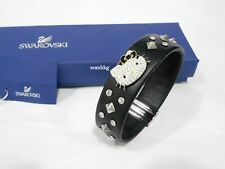 Swarovski Hello Kitty Rock Leather Bracelet, Cat  Crystal Authentic MIB 1145284