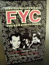 Fine Young Cannibals Large 1989 promo poster Raw & Cooked super mint condition