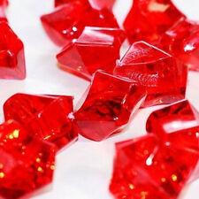150pcs Red Acrylic Crystal Ice Rock Stones Aquarium Vase Gems Table Decorating