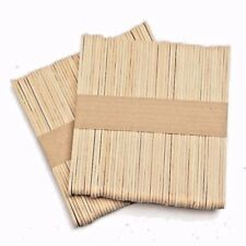 100 x  Wooden Popsicle Sticks Kids Hand Crafts Ice Cream Lolly DIY+FREE POSTAGE