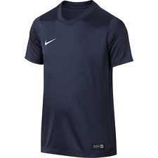 Mens Kids Nike Football Rugby Sports Match Training T Shirt Top Jersey Park VI Medium Youth 28/30 Navy