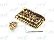 BN-007, Hardtail Fixed style bridge for Telecaster ® Stratocaster ® guitar, gold