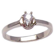 Anello solitario fidanzamento in oro bianco 18 kt con diamante taglio brillante
