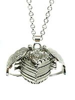 """Angel Wing Heart Photo Pendant Expanding 5 Picture Locket 24"""" Necklace Silver UK"""