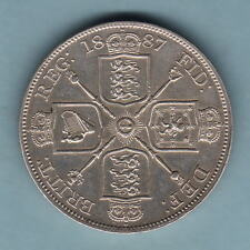 Great Britain. 1887 Double Florin (4/-). Arabic 1 in date..   gEF