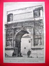 Arco di Traiano a Benevento nel 1885 (disegno di A. Cairoli)