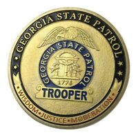 U.S. United States   Georgia State Patrol GSP   Gold Plated Challenge Coin