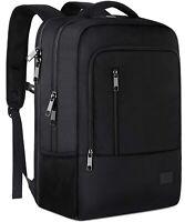 Matein Men's Black 40L Anti-Theft Travel Laptop Backpack School Bag USB Port