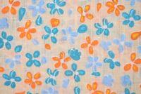 Seaward & Stearn NWT Linen Pocket Square in Tan w/ Multi-Colored Floral