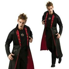 Vampire Coat Blk/Burg Victorian Style Long Fully Lined Frock Coat Costume STD