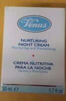 VENUS NURTURING NIGHT CREAM ALL SKIN TYPES 1.7 FL. OZ. / 50 ML - NEW IN BOX