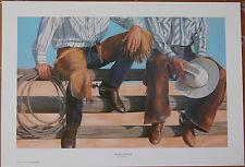 Ann Hanson The Board Meeting Limited Edition Fine Art Western Cowboy Print Boots