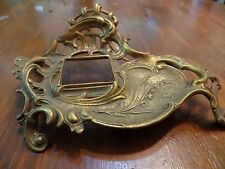 Antique Brass Ink Well Stand