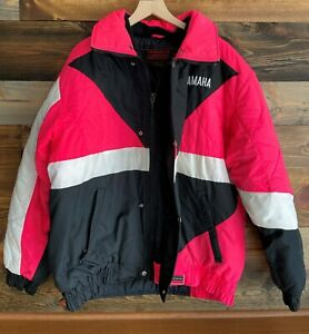 Vintage YAMAHA Snowmobile Winter Jacket Womens Size Large
