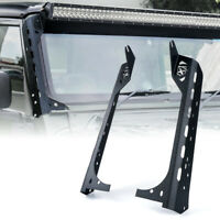 "Front Windshield 50"" Light Bar Mounting Brackets fits Jeep Wrangler JK 1997-2006"
