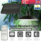 Led Solar Panel Powered Pendant Hanging Light Lamp Garden Yard Shed Lighting Uk