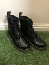 Doc Martens 1460W Black Size 4 Patent Leather Ankle Boots AW501 KV05Q - New