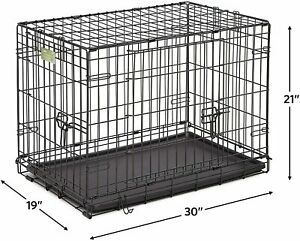 """MidWest Homes for Pets 1530DD iCrate Folding Dog Crate, Black, 30"""""""