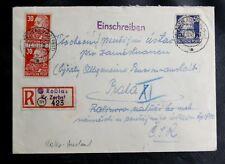 TIMBRES D'ALLEMAGNE : DDR 1948 YVERT N° 42 EN PAIRE + 44 SUR ENVELOPPE RECOMMAND