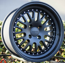 15X8 ROTA FLUSH Wheels 4X100 BLACK RIMS +20MM FITS INTEGRA CIVIC MIATA XB