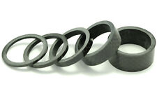 "OMNI Racer WORLDS LIGHTEST Carbon Headset Spacers Set: 1-1/8""  2,3,5,10,15mm"
