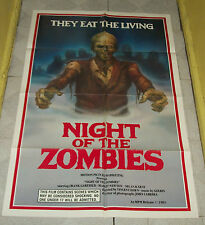 original NIGHT OF THE ZOMBIES one-sheet poster Frank Garfield Margit Newton
