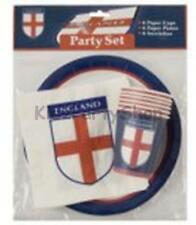 World Cup Party - 18 pc England Party Set Plates Cups Napkins  - Free Post in Uk