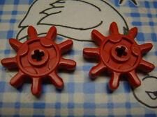 2 LEGO TECHNIC Zahnrad alt rot 9 Zähne Zahnräder x451 810 780 813 812 811 802