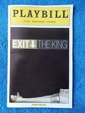 Exit The King - Ethel Barrymore Playbill - Opening Night - March 26th, 2009