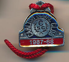 1987 88 Carlton Footballl Club Social Club Enamel medallion badge Blues