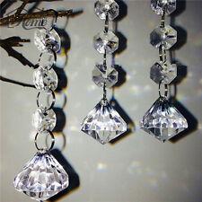 10 pz Acrilico Trasparente Perline di Cristallo a Forma di Diamante Ghirlanda