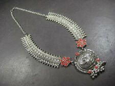 N5360 Tribal Ethnic Silver Oxidized Peacock bells BOHO ethnic Banjara Necklace