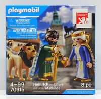 HEINRICH DER LÖWE MIT SEINER MATHILDE Playmobil EXCLUSIV EDITION 70315 OVP NEU