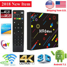 Updated 4G/32G H96 Max H2 Android 7.1 Smart TV Box  Quad-Core RK3328 5GWifi 4KHD