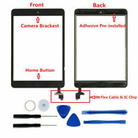 Black Touch Screen Glass Digitizer Replacement IC Home Button for iPad Mini 1 2