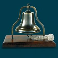Tabletop Vintage Diner Bell With Rope Bronzed Nautical Decor