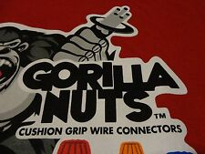 Funny Gorilla Nuts Advertising Wire Connector T Shirt Free Shipping size Large