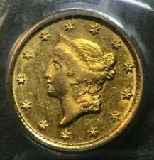 1853-o.  $1. Gold Liberty  , PCGS AU55.  OGH.  Scarce
