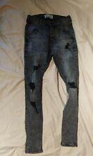 Sik Silk Jeans Faded Black distressed skinny