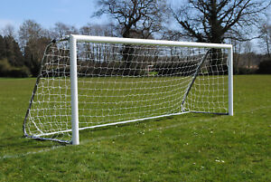 Pair of 5 a side Aluminium Folding Goals - Made in the UK - Free P&P