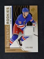 2018-19 UD SP Game Used Gold Jersey Relic Rookie #102 Lias Andersson /499