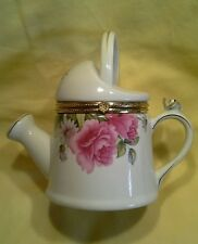 Vintage Watering Can TrinketBox Formalities Porcelain Summer Flowers Collection