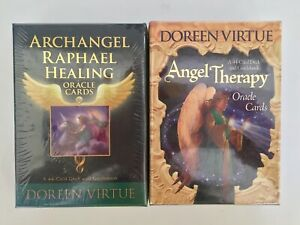 Doreen Virtue Archangel Raphael,Angel Therapy Oracle Cards Bundle X 2 New Seal