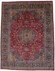 10X13 Handmade Vintage Traditional Floral Red Oriental Rug Plush Carpet 9'7X12'6